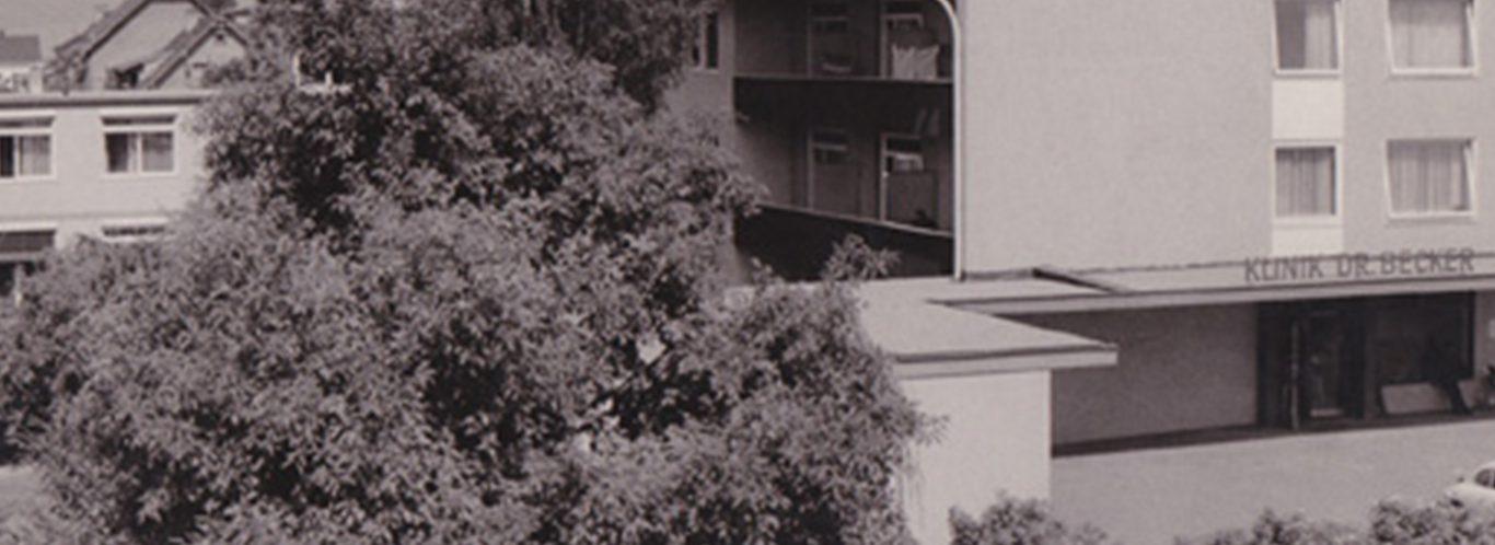 Historisches Bild der Beckerklinik