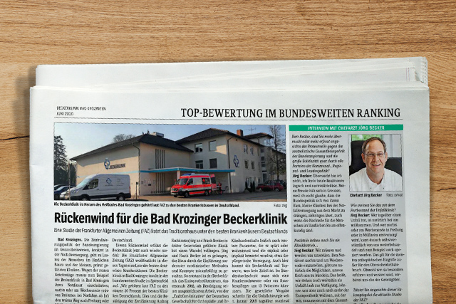 Rückenwind für die Bad Krozinger Beckerklinik